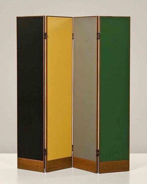 Le Corbusier's Oak vinyl and gilded metal screen
